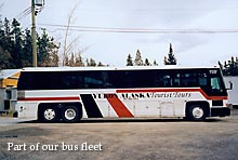 Part of our bus fleet