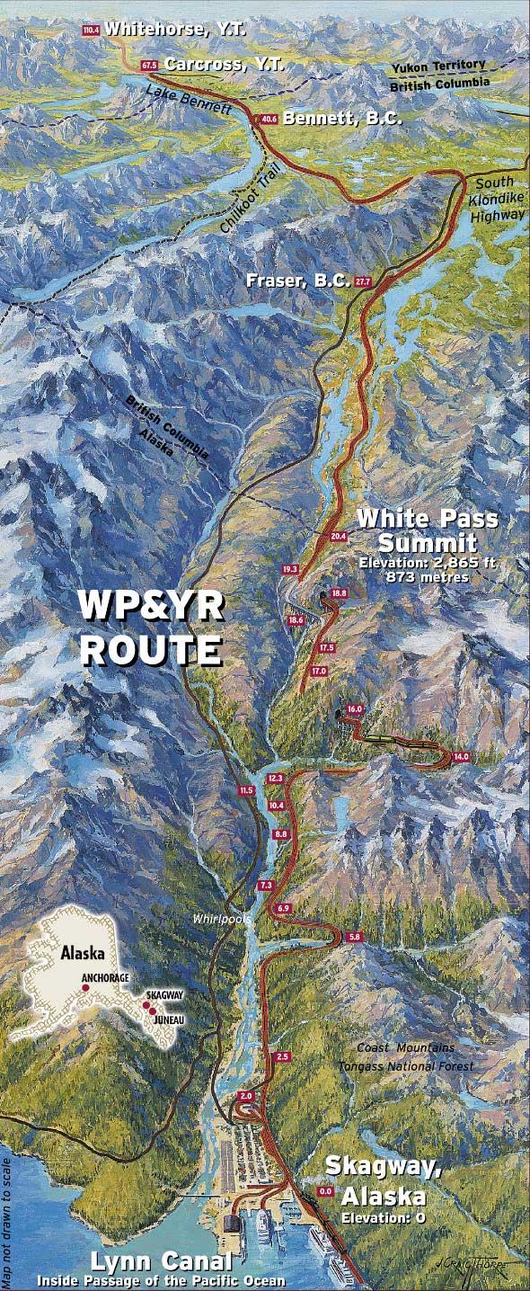 BusTrain Combo Yukon Alaska Tourist Tours – Alaska Tourist Map