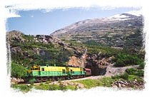 Take a ride on the spectacular railway made of gold, the White Pass & Yukon Route.